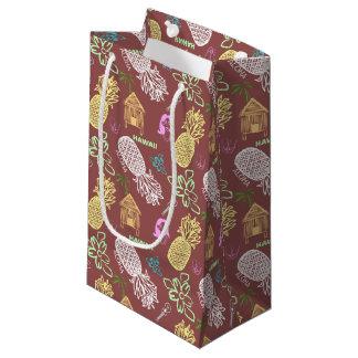 パターン(の模様が)あるなハワイのルアウ(ハワイ式宴会) スモールペーパーバッグ