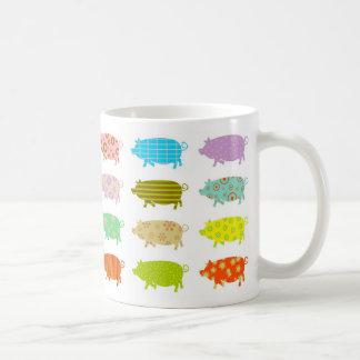 パターン(の模様が)あるなブタ コーヒーマグカップ