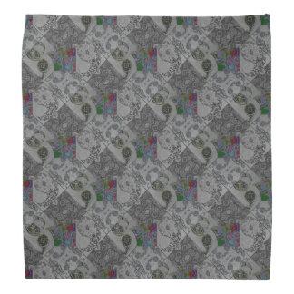パターン(の模様が)あるなペイズリーのキルト バンダナ