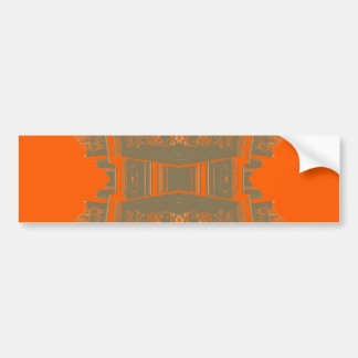 パターン(の模様が)あるな優雅の美しい秋のオレンジの芸術 バンパーステッカー