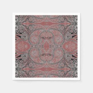 パターン(の模様が)あるな秋のペイズリー スタンダードカクテルナプキン