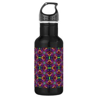 パターン(の模様が)あるな紫色のチューリップのフラクタル ウォーターボトル