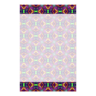 パターン(の模様が)あるな紫色のチューリップのフラクタル 便箋