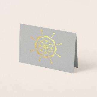 パターン(の模様が)あるな花柄 箔カード