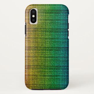 パターン(の模様が)あるな虹のツイードの生地の一見 iPhone X ケース