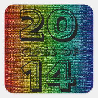 パターン(の模様が)あるな虹のツイード粗かった一見のクラス スクエアシール