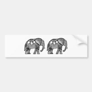 パターン(の模様が)あるな象 バンパーステッカー