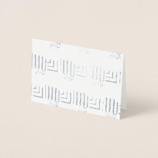 パターン(の模様が)あるな長方形 箔カード
