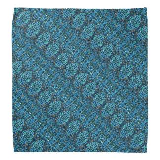 パターン(の模様が)あるな青いモザイク バンダナ