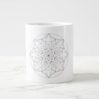 パターン(の模様が)ある ジャンボコーヒーマグカップ
