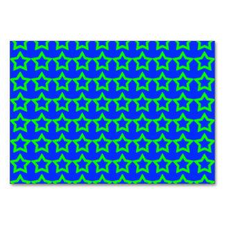パターン: 緑の星が付いている青い背景 カード