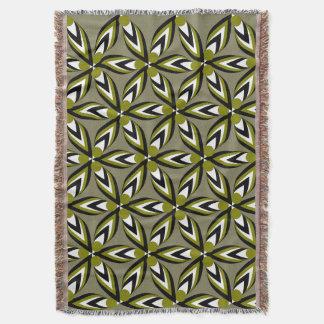 パターン、花びらおよび…花 スローブランケット