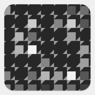 パターン(black04)を繰り返す立方体 スクエアシール