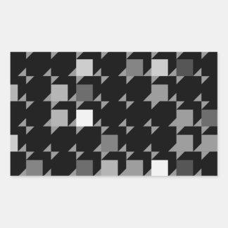 パターン(black04)を繰り返す立方体 長方形シール