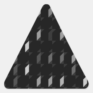 パターン(black05)を繰り返す立方体 三角形シール