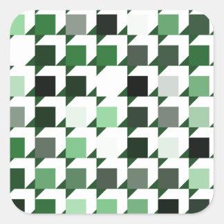 パターン(green01)を繰り返す立方体 スクエアシール