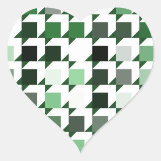パターン(green01)を繰り返す立方体 ハートシール