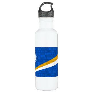 パターンMarshalleseのモダンな旗 ウォーターボトル