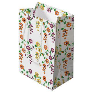 パターンNO.2: ぶら下がったな花のギフトバッグ ミディアムペーパーバッグ
