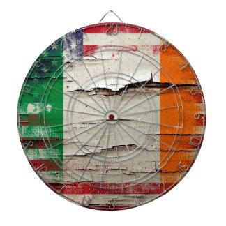 パチパチ鳴る音のペンキ|のアイルランドの米国旗 ダーツボード