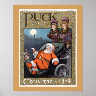 パックの雑誌カバーのクリスマス1904年 ポスター