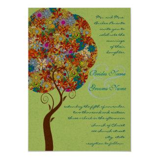 パッチの仕事の花愛木の結婚式招待状 カード