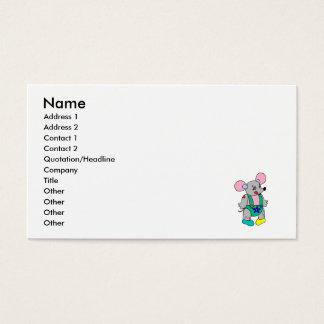 パッチワークのマウス 名刺