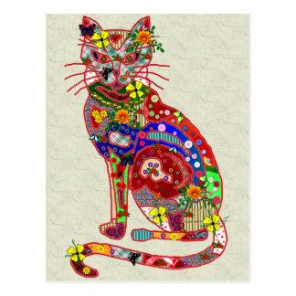 パッチワークの子猫 ポストカード