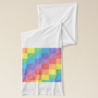 パッチワークの虹のスカーフ スカーフ