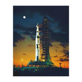 パッドのアポロ4土星V進水の複合体39 キャンバスプリント
