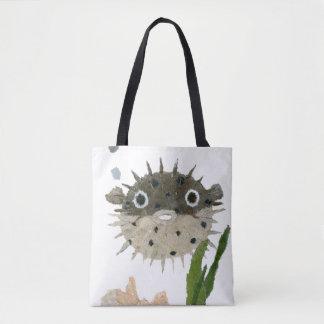 パッファー、フグ、魚、海の創造物 トートバッグ