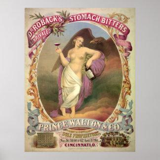 パテント薬の広告1866年 ポスター