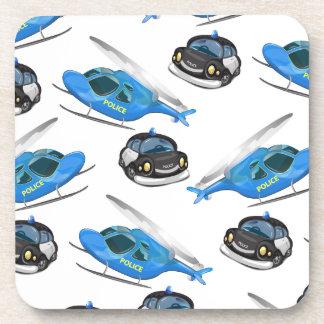パトカーおよびヘリコプター コースター