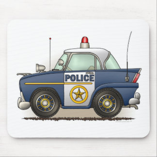 パトカーの警察のCrusierの警察官車のマウスパッド マウスパッド