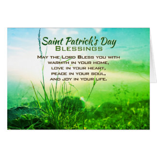 パトリキウスの日の恵み、アイルランドの祈りの言葉 カード
