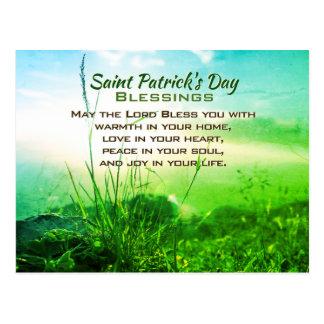 パトリキウスの日の恵み、アイルランドの祈りの言葉 ポストカード
