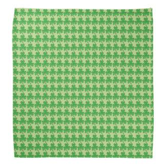 パトリキウスの日の緑のシャムロックのクローバーのバンダナ バンダナ