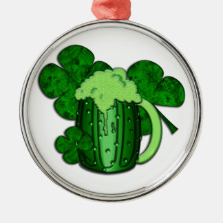 パトリキウスの日の緑ビール メタルオーナメント