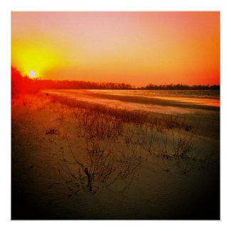パトリシアのビーチの日没ポスター ポスター