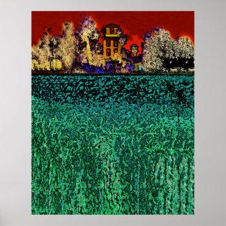 パトリック牧場、チコ、カリフォルニア(赤および緑で) ポスター