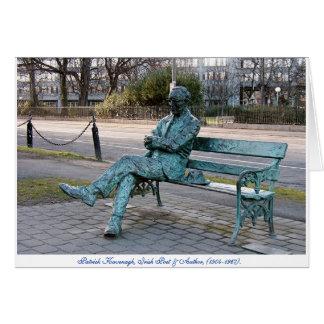 パトリックKavenaghのアイルランドの詩人、実物大の彫刻 カード