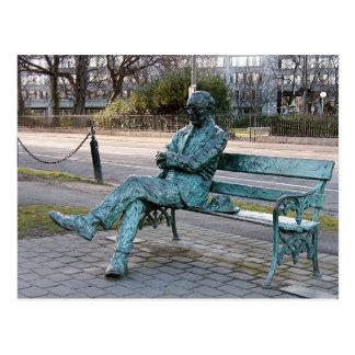 パトリックKavenagh -アイルランドの詩人の彫刻 ポストカード