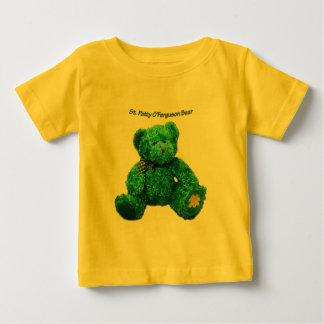 パトリックO'Fergusonの緑くまの乳児のTシャツ ベビーTシャツ