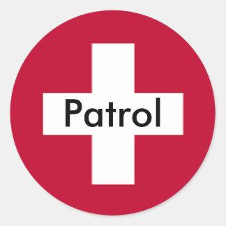 パトロールのステッカー- 1 ラウンドシール