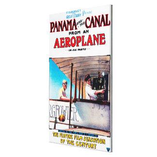 パナマおよび運河の飛行機映画広告宣伝Poste キャンバスプリント