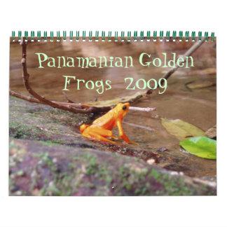 パナマの金カエルのカレンダー カレンダー