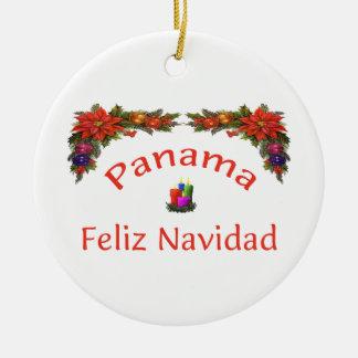 パナマクリスマス1 セラミックオーナメント