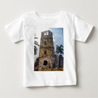 パナマ古い水彩画 ベビーTシャツ