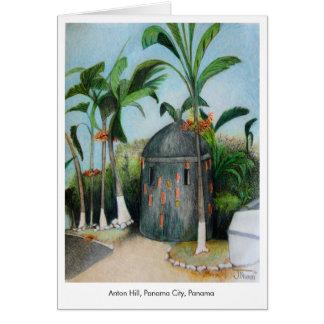 パナマ図解入りの、写真付きのなメッセージカードのブランク中 カード