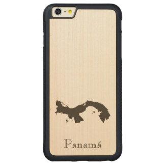パナマ地図 CarvedメープルiPhone 6 PLUSバンパーケース
